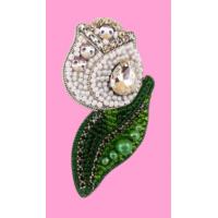 Набор для вышивания броши (подвеса) «ТЮЛЬПАН (Белый) АБН-021»