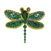 Набор для вышивания броши (подвеса) « АБН-033 СТРЕКОЗА ЗЕЛЁНАЯ»