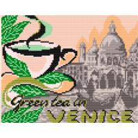 """Схема под вышивку бисером """"..... на зеленый чай в Венецию"""" (схема или набор)"""