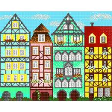"""Схема для вышивки бисером """"Европейские домики"""" (Схема или набор)"""