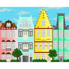 """Схема для вышивки бисером """"Европейские домики 2""""  (Схема или набор)"""