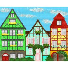 """Схема для вышивки бисером """"Европейские домики 3"""" (Схема или набор)"""