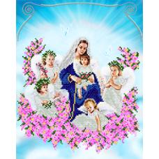 """Схема вышивки бисером """"Богородица с ангелами"""" (Схема или набор)"""