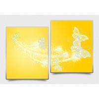 """Схема (модульная картина) под вышивку бисером """"Ажурные бабочки"""" (Схема или набор)"""