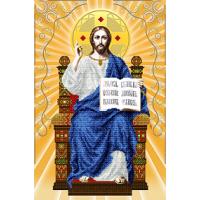 """Икона для вышивки бисером """"Спаситель на престоле"""" (Схема или набор)"""