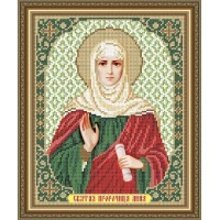 """Икона для вышивки бисером """"Святая пророчица Анна"""". (Схема или набор)"""