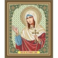 """Икона для вышивки бисером """"Святая мученица Иулия (Юлия)"""" (Схема или набор)"""
