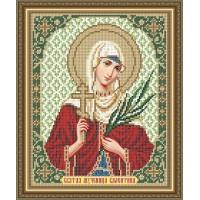 """Икона для вышивки бисером """"Святая мученица Валентина"""" (Схема или набор)"""