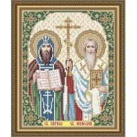 """Икона для вышивки бисером """"Святые Кирилл и Мефодий"""" (Схема или набор)"""