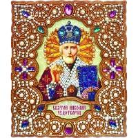 """Набор для вышивки бисером на деревянной основе """"Святой Николай Чудотворец"""""""