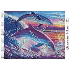 """Схема для вышивки бисером """"Дельфины"""" (Схема или набор)"""