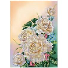 """Схема для вышивки бисером """"Белые розы"""" (Схема или набор)"""