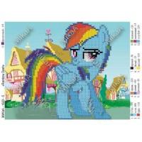 """Схема для вышивки бисером """"Rainbow Dash"""" (Схема или набор)"""