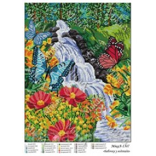 """Схема для вышивки бисером """"Бабочки у водопада"""" (Схема или набор)"""