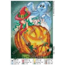 """Схема для вышивки бисером """"Ведьмочка в Хеллоуин - 4"""" (Схема или набор)"""