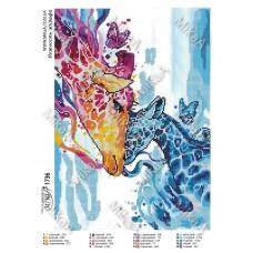 """Схема для вышивки бисером """"Нежность жирафа"""" (Схема или набор)"""