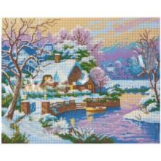 """Схема для вышивки бисером """"Зимний пейзаж"""" (Схема или набор)"""