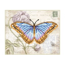 Схема для вышивки бисером «Голубая бабочка» (Схема или набор)