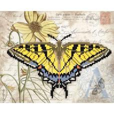Схема для вышивки бисером «Желтая бабочка» (Схема или набор)