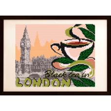 """Схема под вышивку бисером """"..... на черный чай в Лондон"""" (схема или набор)"""