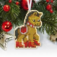 """Новогодняя деревянная игрушка для вышивки бисером или нитками """"Лошадка"""""""