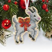 """Новогодняя деревянная игрушка для вышивки бисером или нитками """"Коза"""""""