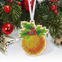 """Новогодняя деревянная игрушка для вышивки бисером или нитками """"Елочный шар"""""""