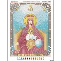 """Икона для вышивки бисером""""Божия Матерь державная"""" (Схема или набор)"""