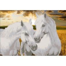 """Схема для вышивания бисером """"Пара Лошадей"""""""