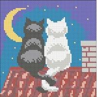 """Схема под вышивку бисером """"Коты на крыше"""" (Схема или набор)"""