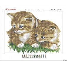 """Схема для вышивки бисером """"Котята"""" (Схема или набор)"""