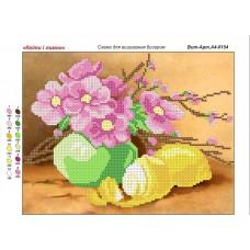 """Схема для вышивки бисером """"Цветы и лимон"""" (Схема или набор)"""