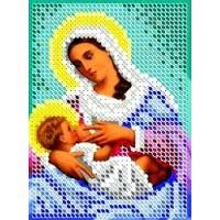 """Икона для вышивки бисером """"Божия Матерь Млекопитательница (Богородица Кормящая)"""" (Схема или набор)"""