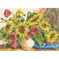 Схема вышивки бисером «Ваза с подсолнухами» (Схема или набор)