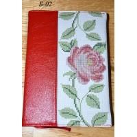 Блокнот с обложкой под вышивку бисером или нитками Б-02 (кожа).