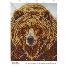 """Схема для вышивки бисером """"Бурый медведь"""" (Схема или набор)"""