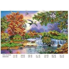 """Схема для вышивки бисером """"Осень за городом"""" (Схема или набор)"""