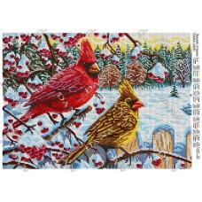 """Схема для вышивки бисером """"Зимние птички"""" (Схема или набор)"""