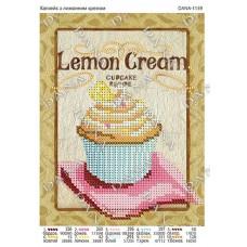 """Схема для вышивки бисером """"Капкейк с лимонным кремом"""" (Схема или набор)"""