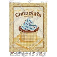 """Схема для вышивки бисером """"Шоколадный капкейк"""" (Схема или набор)"""