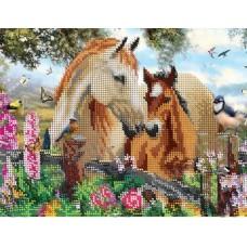 """Схема под вышивку бисером """"С Мамой. Лошади"""" (схема или набор)"""