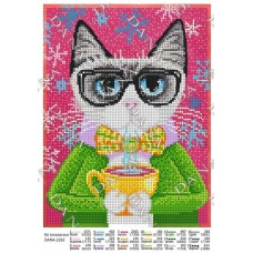 """Схема для вышивки бисером """"Кот интеллигент"""" (Схема или набор)"""