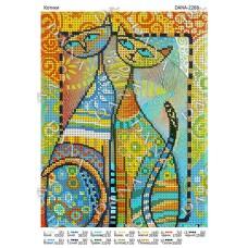 """Схема для вышивки бисером """"Котики"""" (Схема или набор)"""