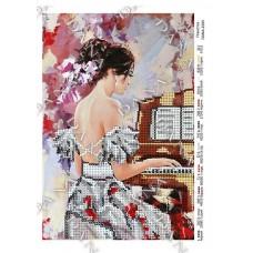 """Схема для вышивки бисером """"Пианистка"""" (Схема или набор)"""