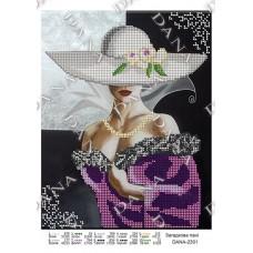 """Схема для вышивки бисером """"Загадочная дама"""" (Схема или набор)"""