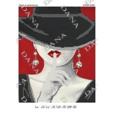 """Схема для вышивки бисером  """"Дама в шляпе"""" (Схема или набор)"""