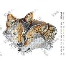 """Схема для вышивки бисером """"Пара волков"""" (Схема или набор)"""
