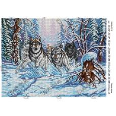 """Схема для вышивки бисером """"Волчья стая"""" (Схема или набор)"""