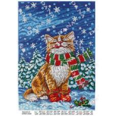 """Схема для вышивки бисером """"Зимний кот"""" (Схема или набор)"""
