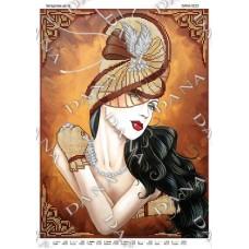 """Схема для вышивания бисером """"Загадочная дама"""" (Схема или набор)"""